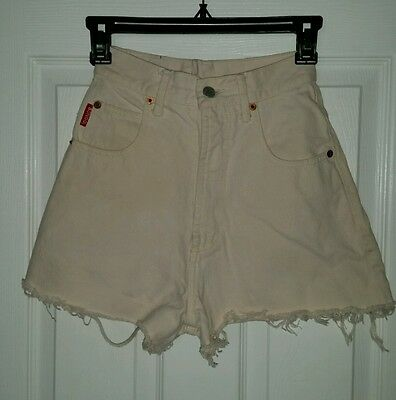 Vtg 90s Off White  BONGO   High-Waisted waist Jeans Cutoff Shorts Size 1