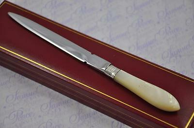 Ladies Mother Of Pearl And Silver Letter Opener/paper Knife Sheffield 1919