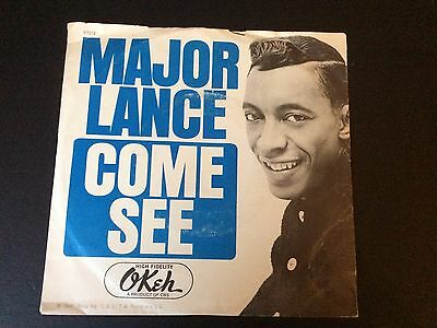 """MAJOR LANCE: """"COME SEE"""" on USA OKEH (PICTURE SLEEVE COPY)"""