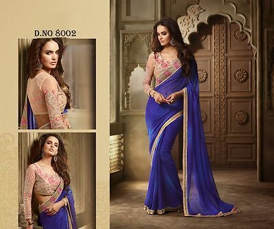 Indian Designer Women Wedding Saree Bollywood Ethnic Party Wear Sari