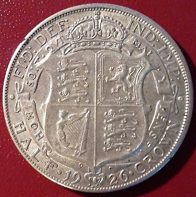 Scarce 1926 Half Crown. George V British Silver Coins