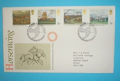 GB First Day Cover - 1979 - Horse Racing - Epsom handstamp