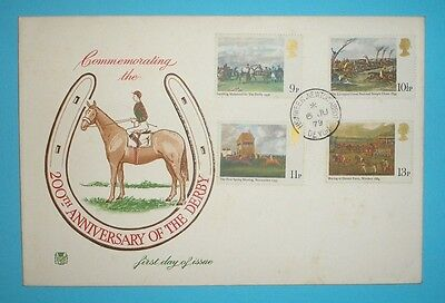 GB First Day Cover - 1979 - Horse Racing - Newton Abbot handstamp