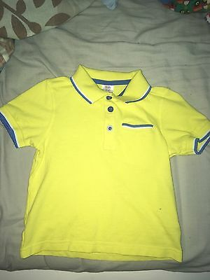 Boys Yellow Polo Shirt New Without Tags 18-24 Months