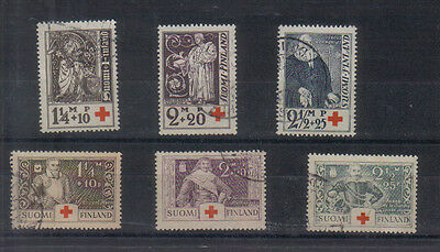 Finland 1933 & 1934 Red Cross sets used