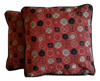 2 Pillow Covers Maharam Circles Engine Red by Charles & Ray Eames 458310–004 B4
