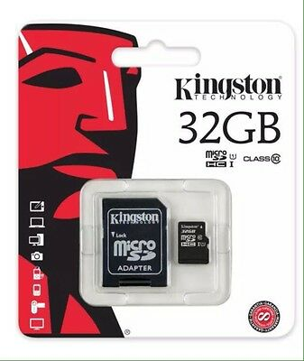 Kingston 32 GB Micro SD Card +SD Adapter Class 10 For Phone Tablet Camera
