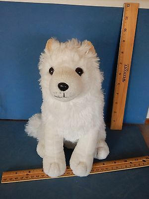 "DARLING UNIPAK WHITE  WOLF or  FOX PLUSH TOY 10"" HIGH  Siberian husky"