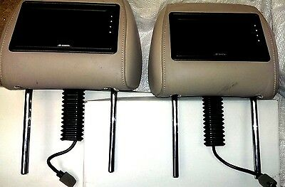 Toyota - 2 X Seat Head Rest Fitted DVD Displays Leather Cream - NCS1189293