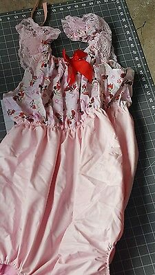 minnie mouse Sissy ABDL Adult Baby Satin Dress & Bottom Diaper Cover together