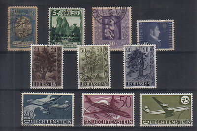 Liechtenstein Interesting small early used collection