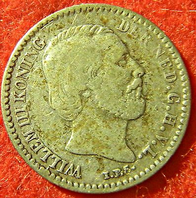 Netherlands 10 Cent 1879 Broadaxe - Small Silver Coin