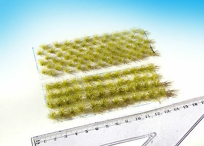 120 pcs Static grass tufts, Summer green mixed sizes. basing HO / O scale model