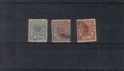 Denmark 1864-70 2sk, 3sk and 4sk used