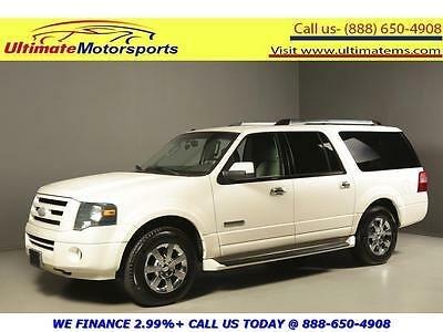 2007 Ford Expedition Limited Sport Utility 4-Door 2007 FORD EXPEDITION EL LIMITED NAV DVD LEATHER HEAT/COOL SEATS 8PASS WHITE