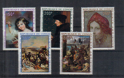 Congo 1970 Paintings Air set unmounted mint