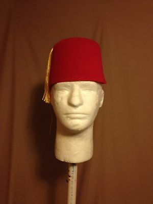 New Red Fez Hat With Tassle Costume Accessory Halloween Dress Up