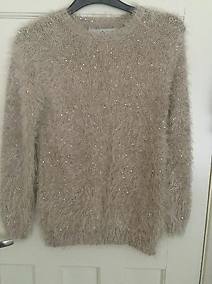 Girls Primark Sequinned Jumper Age 9-10 Years
