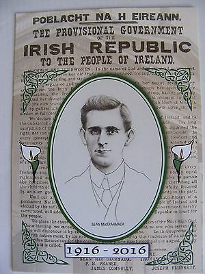 New Postcard SEAN MacDIARMADA IRISH PROCLAMATION EASTER RISING Irish Republican