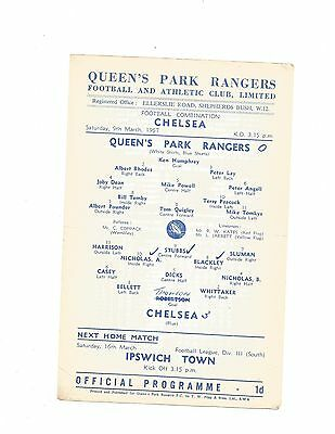 Q.P.R RES. v CHELSEA RES. 1956/57