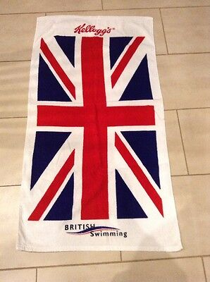 Collectable Kellogg's British Swimming Union Jack Towel