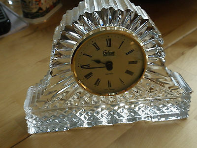 Stunning Galway Crystal Clock Larger Size Size Weighs 2 I/2Lbs