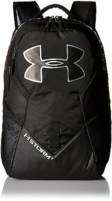 NWT Under Armour Storm Big Logo IV Unisex Backpack Black/Black