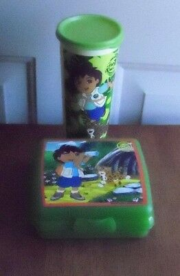 Tupperware GO! Diego Lunch Set Sandwich Keeper Tumbler w/Seal NEW