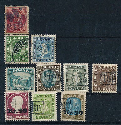 Iceland. Various cancels