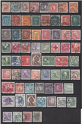 Sweden Selection of Stamps (fu)