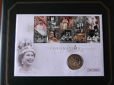 The Queen's Coronation Anniversary 1953-2003 £5 Proof Coin Cover
