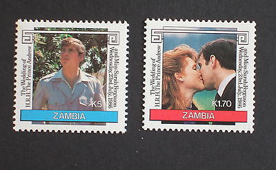 Zambia 1986 Royal Wedding UM MNH Sarah Prince Andrew unmounted mint never hinged