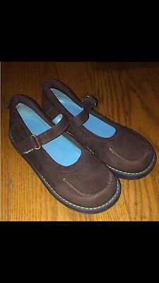Toddler Girls Sz 11 Gap Brown Suede Leather Mary Jane Dress Casual Shoes EUC