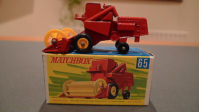 Vintage Matchbox No65 Combine Havester - Boxed in Mint Condition