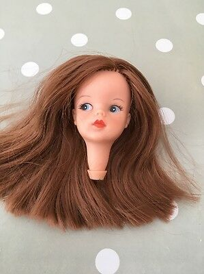 Vintage 1960 Sindy Doll 1st Issue Head Only Rerooted