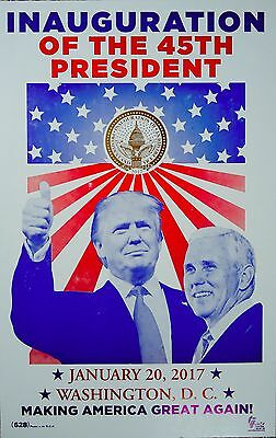 Donald Trump/Mike Pence 2017 Inauguration of the 45th President Poster