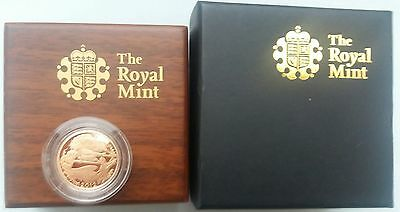 2012 Gold Proof Sovereign Royal Mint Box & C.O.A