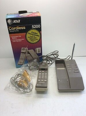 AT&T Vintage Portable Cordless phone 5200 excellent condition works great
