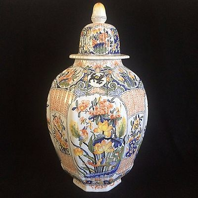 MONUMENTAL TIFFANY & CO French Porcelain FAIENCE Ginger Jar MADE IN FRANCE