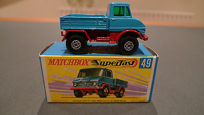 Vintage Matchbox Superfast No49 Unimog  - Boxed in Mint Condition