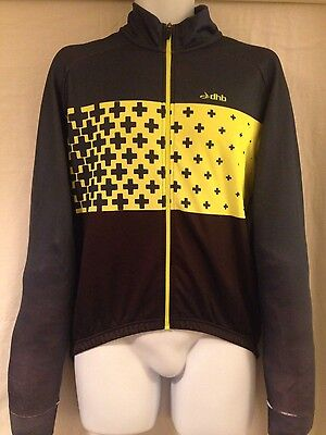 Men's dhb Blok Meso softshell windslam Roubaix cycling jersey. Size L.Thermal