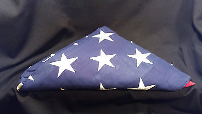 USA American Military Burial Funeral Flag Folded Valley Forge BEST Cotton 5x9.5'