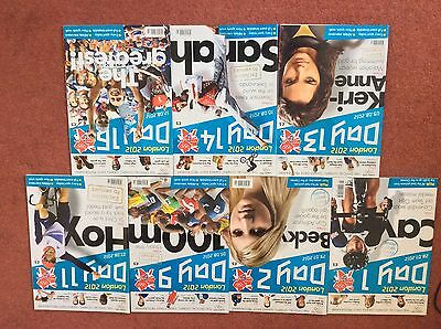 London 2012 Olympic  daily programmes x7