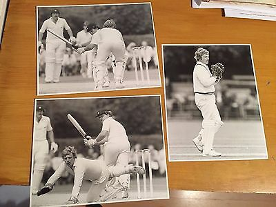 1980s 3x David Humphries keeping for Worcestershire Bob Thomas Press Photographs