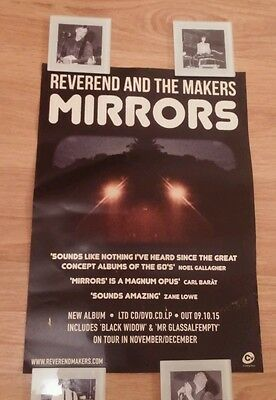 Reverend And The Makers Mirrors Small Poster*rare*