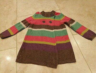 Girls age 3 John lewis knitted cardigan striped cute buttons