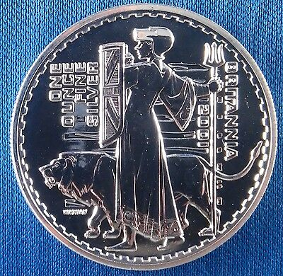 2001 Great Britain 2 Pounds Britannia 1 Ounce Silver Coin