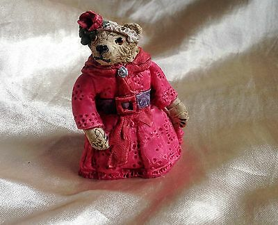 Peter Fagan's Colour Box Teddy Bear Hand Painted in Pink