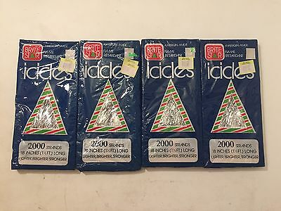 Vintage Retro Christmas Icicles Tinsel-Brite Star STILL NEW *LOT OF 4* Fast Ship