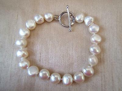SILVER 925 and PEARL knotted BRACELET suerb ladies jewellery EXCELLENT